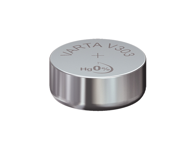 Varta Single Cell, Silver Oxide, 160 mAh, 1.55 V SR44 Battery