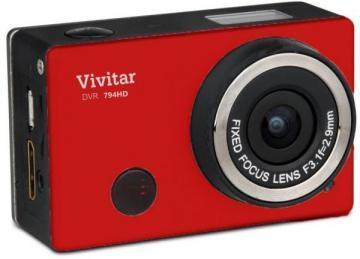 Vivitar DVR794HD Red Full-HD Action Camera with WiFi