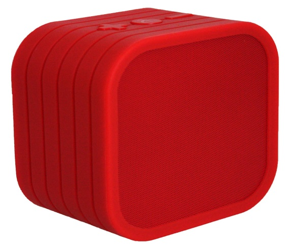 Vivitar Red Neon Cube Wireless Bluetooth Speaker