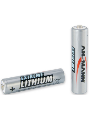 Ansmann Lithium Iron Disulphide, 1200 mAh, 1.5 V, AAA Battery