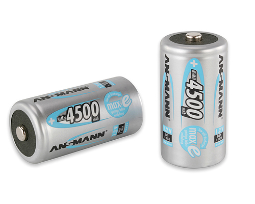 Ansmann Nickel Metal Hydride, 4500 mAh, 1.2 V, C Rechargeable Battery
