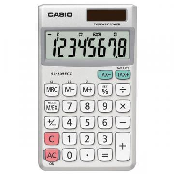 Casio SL-305ECO 8 Digit Desktop Calculator with Currency Conversion