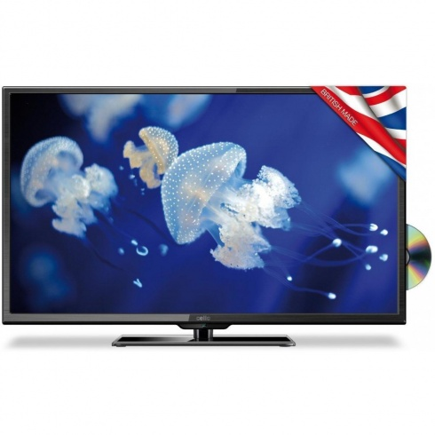 "Cello 40"" Full-HD LED TV with DVD Player"