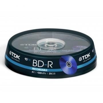 TDK 4x BD-R Media Spindle-Pack (10-Pack)