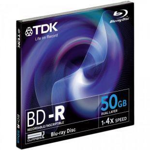 TDK 4x BD-R Media Jewel Cases (5-Pack)