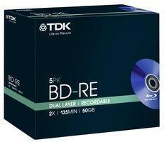 TDK 4x BD-RE Media Jewel Cases (5-Pack)