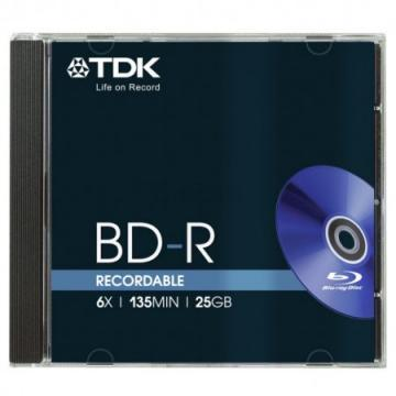TDK 6x BD-R Media Jewel Cases (5-Pack)