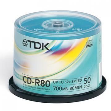 TDK CD-R, 52X, Spindle x50