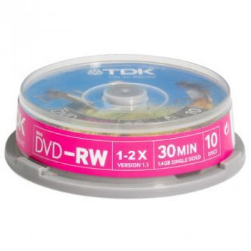TDK 8cm DVD-RW Media Spindle Pack (10 Pack)