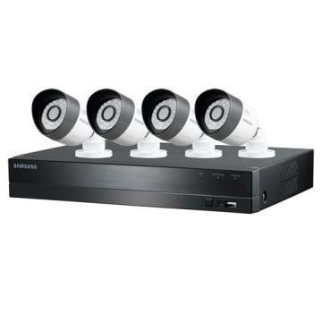 Samsung Techwin 4-Channel HD DVR Security System with 4x Bullet Cameras