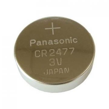Panasonic Lithium Manganese Dioxide, 1000 mAh, 3 V, CR2477 Battery