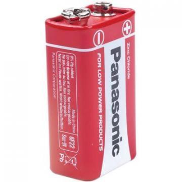 Panasonic Zinc Carbon, 9 V, PP3 Battery