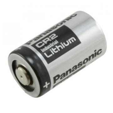 Panasonic Lithium Manganese Dioxide, 850 mAh, 3 V, CR2 Battery