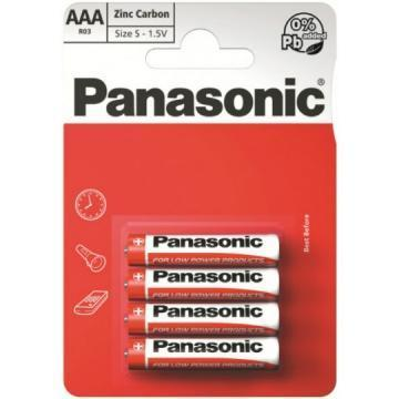 Panasonic Pack of 4, Zinc Carbon, 1.5 V, AAA Batteries