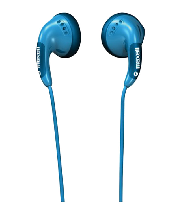 Maxell Color Budz Blue Earphones
