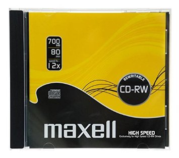 Maxell 12x CD-RW Media Jewel Cases (10 Pack)