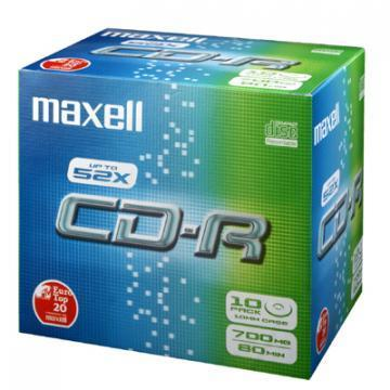 Maxell CD-R Media Jewel Cases (10 Pack)