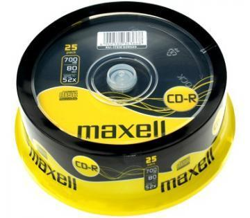 Maxell CD-R Media Spindle Pack (25 Pack)