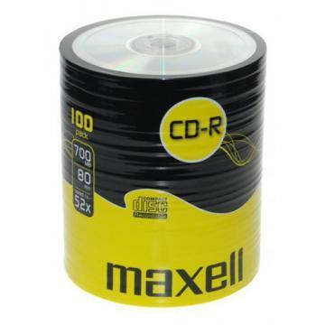 Maxell CD-R Media Shrinkwrapped (100 Pack)