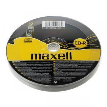 Maxell CD-R Media Shrinkwrapped (10 Pack)