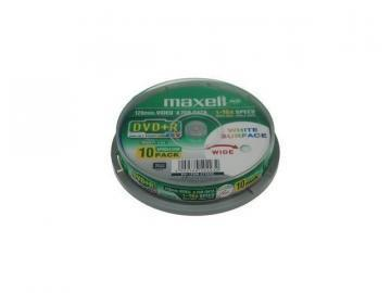 Maxell DVD+R Printable Spindle 10-Pack