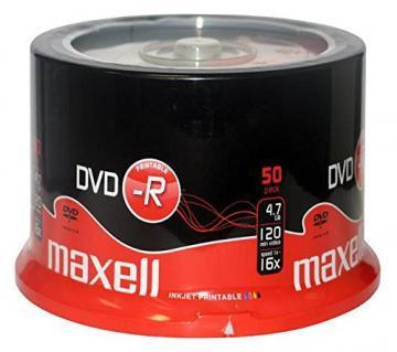 Maxell DVD-R Printable Spindle 50-Pack