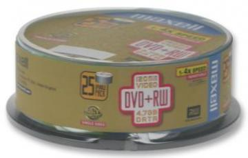 Maxell DVD+RW, 4.7GB, 25PK Spindle