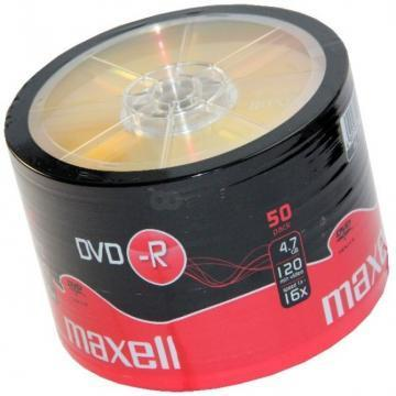 Maxell DVD-R, 4.7GB, 50PK Shrinkwrapped