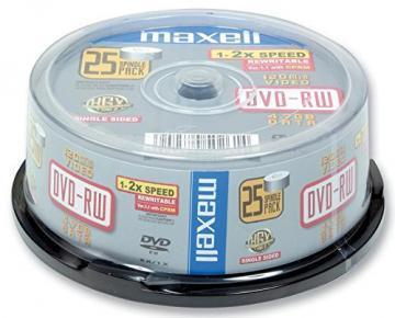 Maxell DVD-RW, 4.7GB, 25PK Spindle
