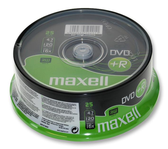 Maxell DVD+R, 25pk Spindle