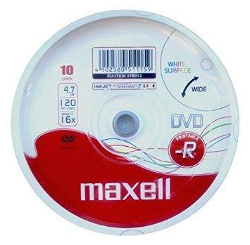 Maxell DVD-R Printable Spindle 10-Pack