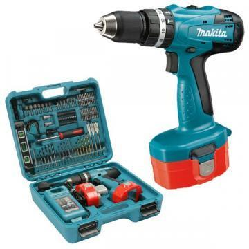 Makita 18V Combi Drill with 2 x 1.3Ah Ni-Cad batteries