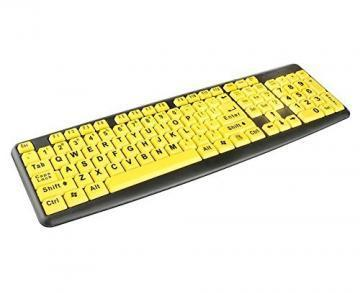 Geemarc Large Character USB Multimedia Keyboard