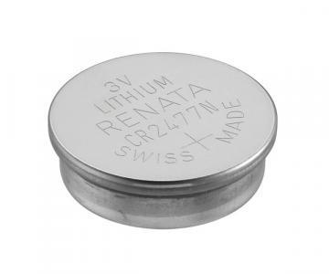 Renata Coin Cell, Single Cell, Lithium Manganese Dioxide, 950 mAh, 3 V, 2477 Bat