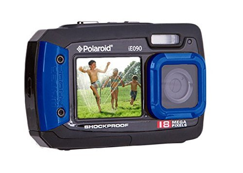 Polaroid Blue iE090 18MP Dual Screen Waterproof Camera