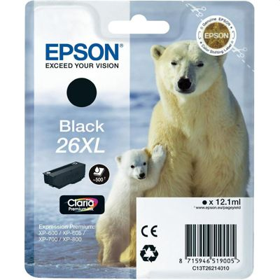 Epson T2621 XL Black Ink Cartridge