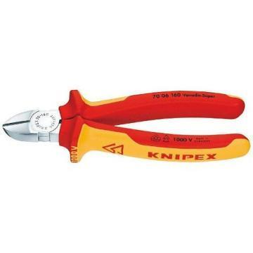 Knipex 180mm VDE Diagonal Cutters