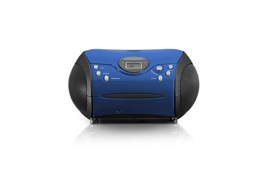 Lenco Portable Blue CD/FM Radio