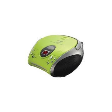 Lenco Portable Green CD/FM Radio