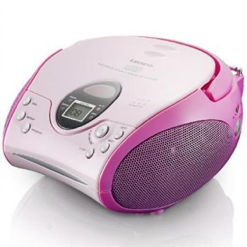 Lenco Portable Pink CD/FM Radio