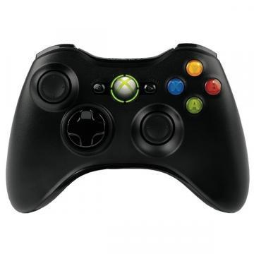 Microsoft Xbox 360 Black Wireless Controller
