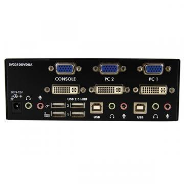 Startech 2 Port DVI VGA Dual Monitor KVM Switch