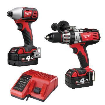 Milwaukee Tool M18, HD18PD & M18BID 18V Drill Twin Kit