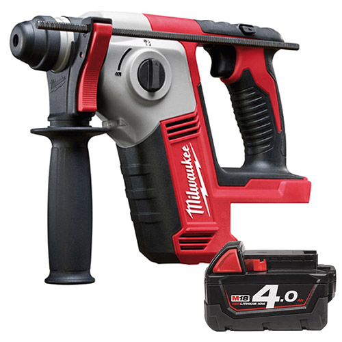 Milwaukee Tool M18, 2X4.0AH, 18V SDS Drill