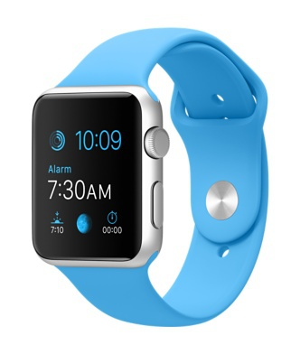 Apple Watch 42mm Silver Aluminium / Blue Sport Band