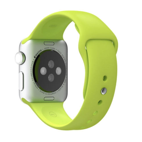 Apple Watch 42mm Silver Aluminium / Green Sport Band
