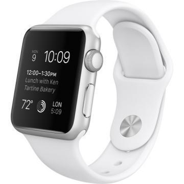 Apple Watch 38mm Silver Aluminium / White Sport Band