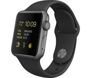Apple Watch 38mm Space Gray Aluminium / Space Gray Sport Band