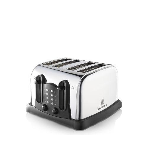 Russell Hobbs 4 Slice Wide Slot Stainless Steel Toaster