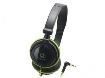 Audio-Technica Portable Black & Green Headphones